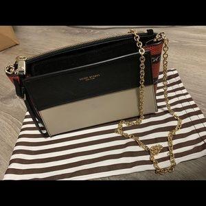 New Henri Bendel snakeskin color blocked small bag